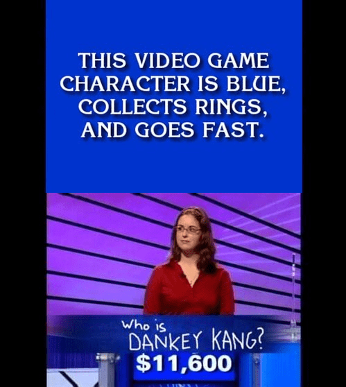 Jeopardy dankey kang video games