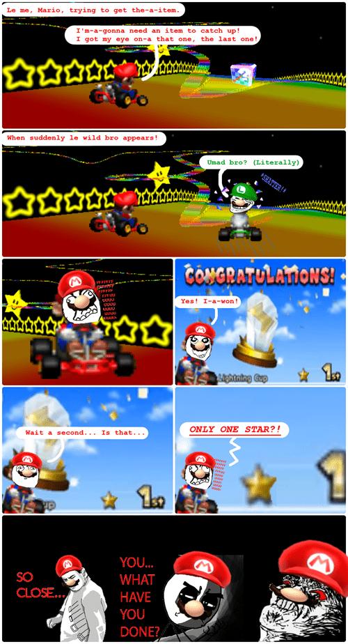 Mario Kart rainbow road trollface rage - 8165764608