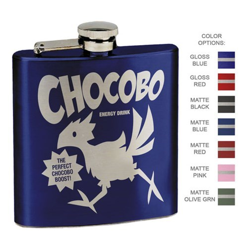 nerds booze final fantasy flask chocobo video games after 12 g rated - 8166072576