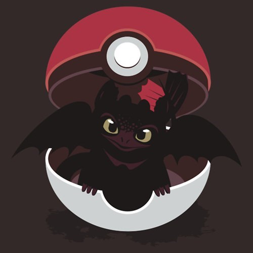 tshirts pokeball dragon types How to train your dragon - 8166083328