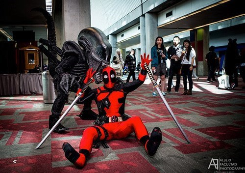 xenomorph,cosplay,deadpool
