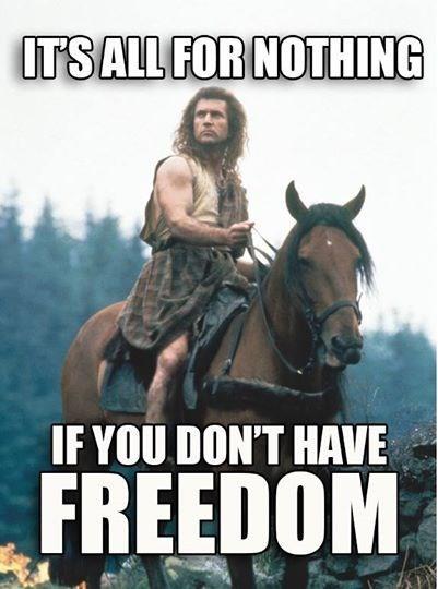 william wallace freedom Braveheart - 8166391552