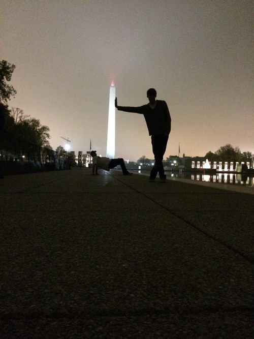 washington monument photobomb - 8166395136