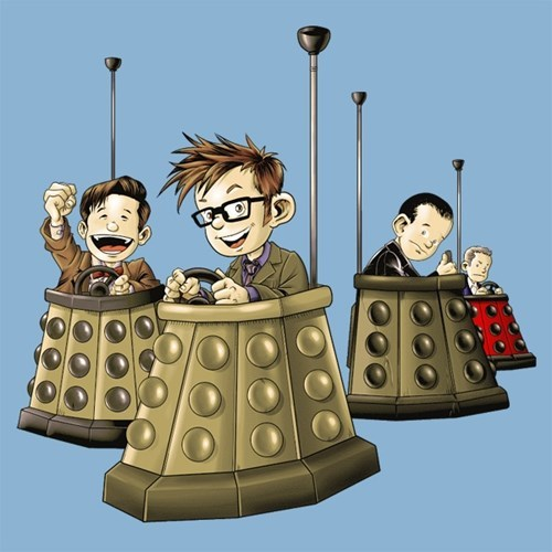 tshirts 10th doctor daleks 12th Doctor 11th Doctor 9th doctor - 8166735872