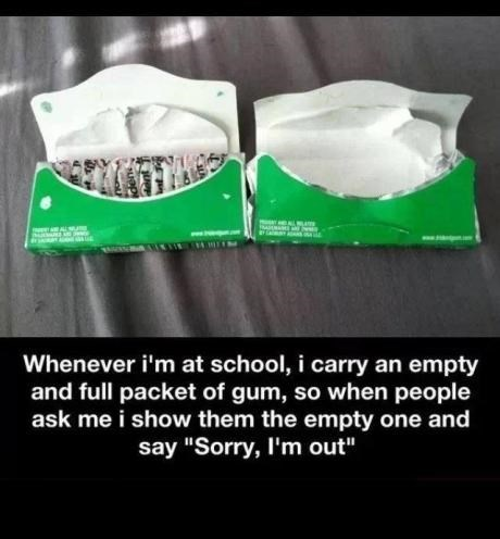 gum,lifehacks