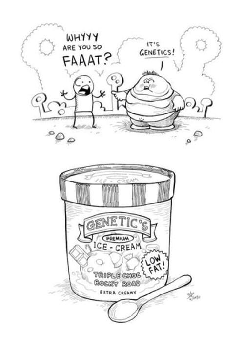 Genetics puns ice cream web comics