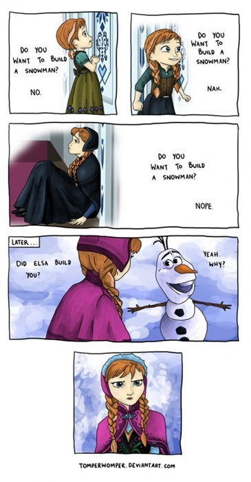 frozen,web comics,snowman