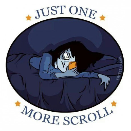 addiction internet scrolling web comics