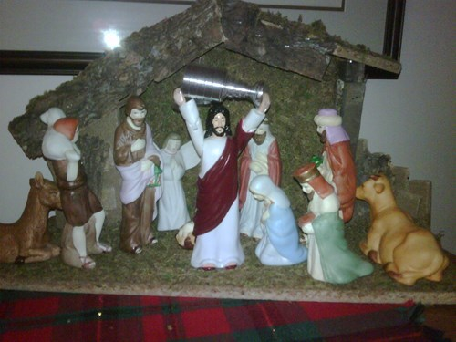 jesus Canada stanley cup hockey Nativity - 8166857216