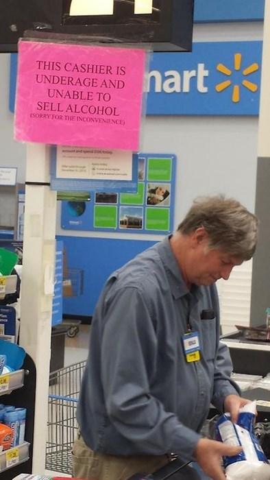 drinking alcohol Walmart cashiers - 8166940416