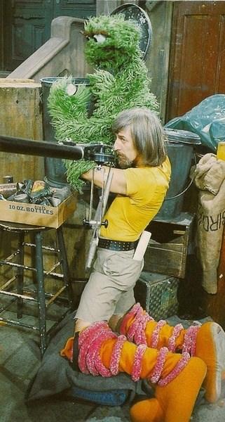 oscar the grouch kids caroll spinney parenting Sesame Street big bird - 8166951168