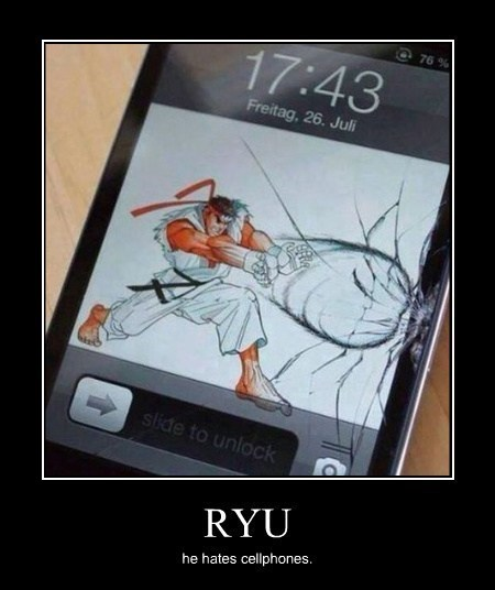 phones hadouken ryu video games funny - 8166978816