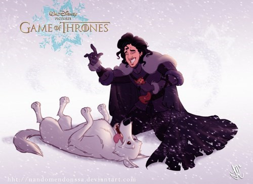 Jon Snow disney Game of Thrones Fan Art - 8167034368