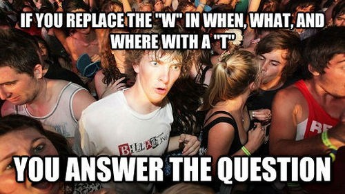 questions,spelling,sudden clarity clarence