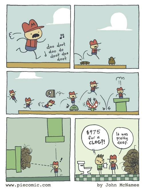 mario video games plumbing web comics