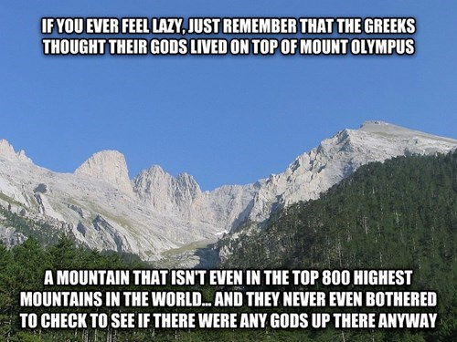 gods greeks laziness mount olympus ancient greece - 8167197952