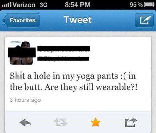 twitter gross yoga pants - 8167360000
