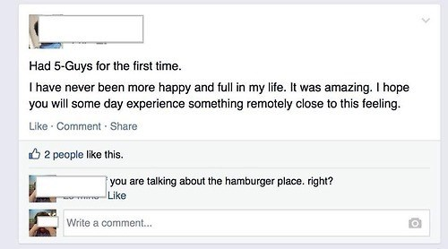 accidental sexy fast food five guys failbook