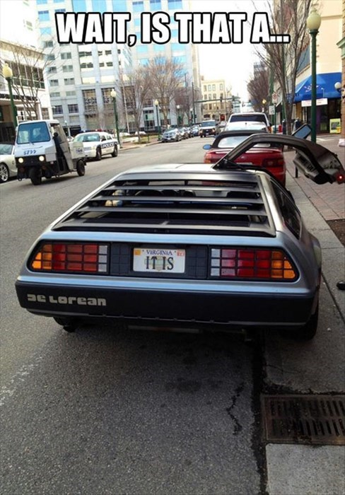 DeLorean back to the future 80s - 8167422208