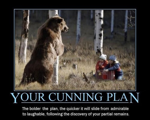 bears,black adder,funny,plans,cunning