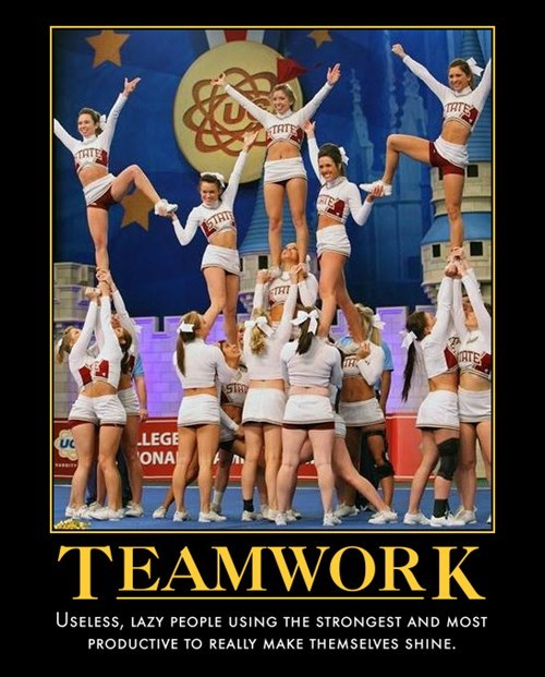 lazy,funny,pyramid,teamwork