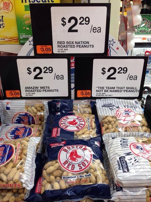 baseball grocery store peanuts New York Yankees monday thru friday New York Mets red sox work g rated