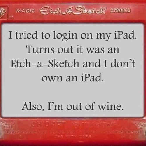 Etch A Sketch drunk funny wine - 8168203520