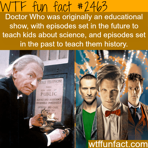 education,doctor who,Fun Fact,wtf