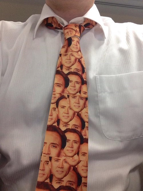 nicolas cage monday thru friday tie poorly dressed work g rated