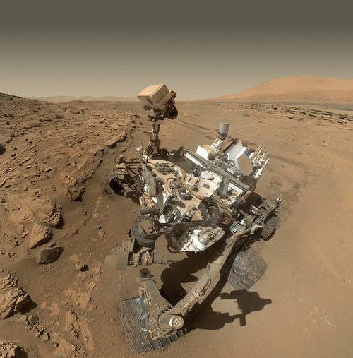 dusty Mars science curiosity rover - 8168329216