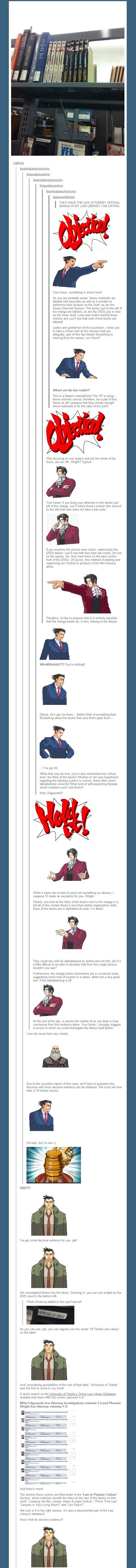phoenix wright,tumblr,case closed,libraries,video games