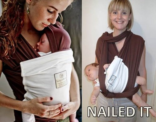 baby,baby wearing,parenting,Nailed It,g rated