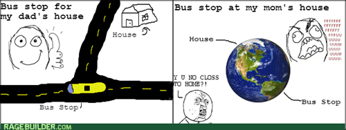 bus stop rage Y U NO - 8168501504