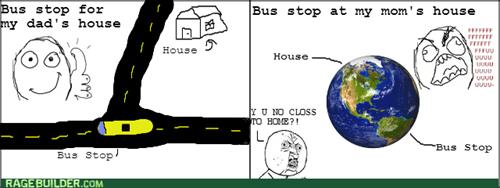 bus stop rage Y U NO - 8168501504