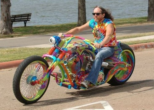 motorcycle,tie dye,paint job