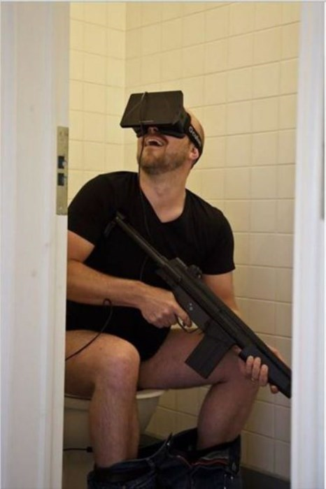 bathrooms gamers video games oculus rift - 8168538880