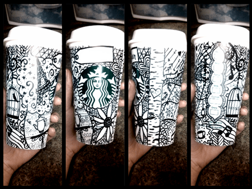 art,drawing,coffee,monday thru friday,Starbucks,work