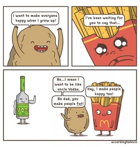 vodka fries family potatoes web comics - 8169297152