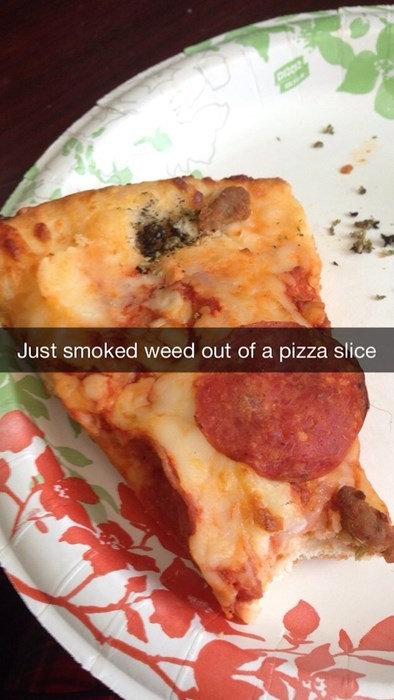snapchat marijuana pizza stoners - 8169391872