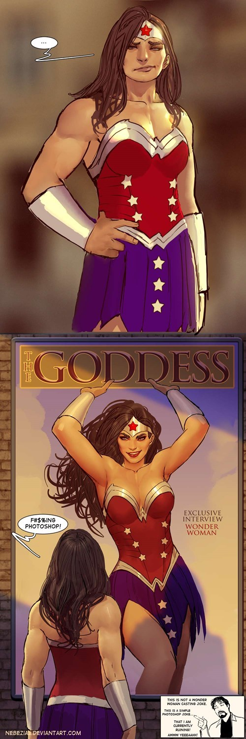 photoshop Fan Art wonder woman - 8169488896