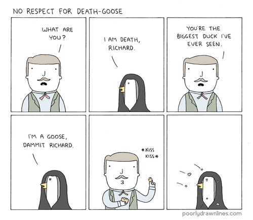 critters,Death,goose,no respect,web comics
