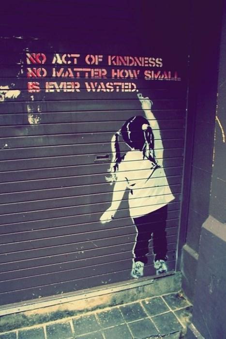 Street Art wisdom hacked irl - 8169593600