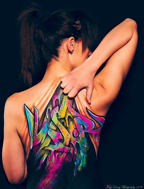 body paint,graffiti,hacked irl