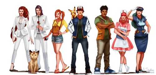 all grown up,Fan Art,Pokémon