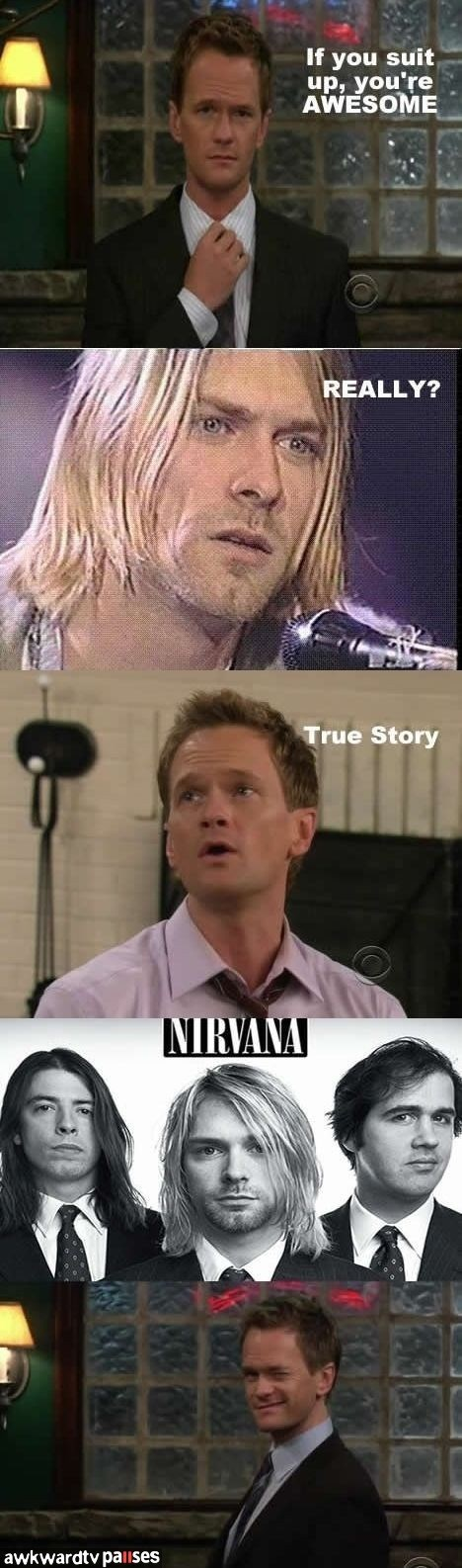 barney,how i met your mother,nirvana