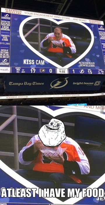 forever alone,hockey,sports,Kiss Cam