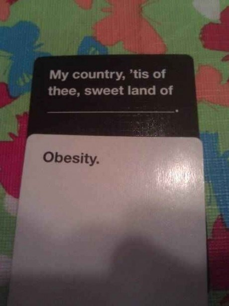 cards against humanity obesity - 8170058752