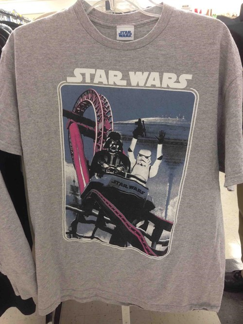 darth vader star wars t shirts poorly dressed roller coaster stormtrooper - 8170417408