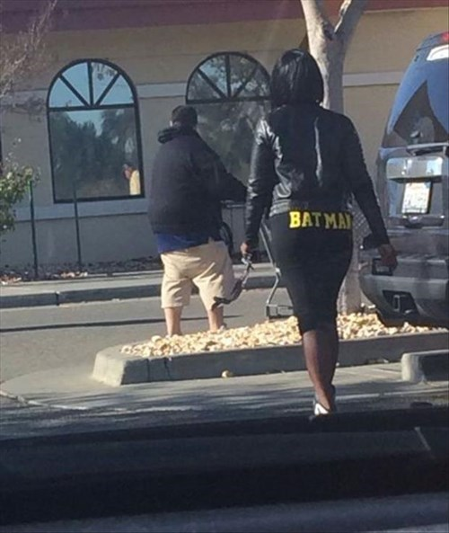 batman pants poorly dressed - 8170462976