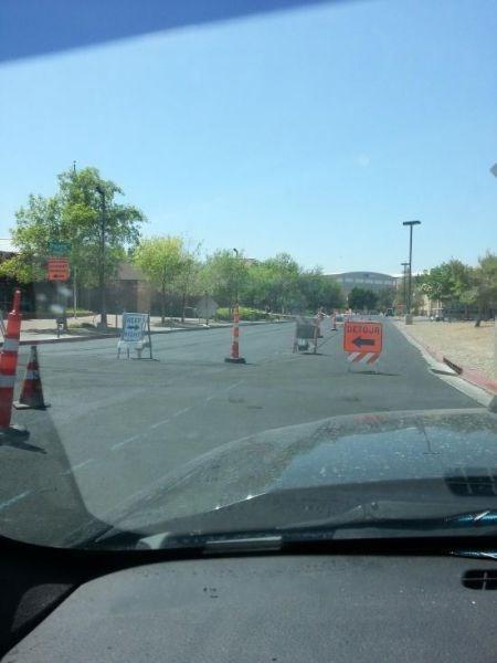 monday thru friday commute sign work road work - 8170601728